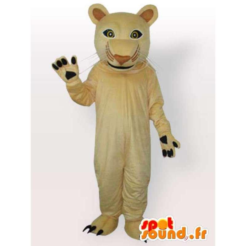 Beige panter mascotte. Schitterend voor katachtige feestavonden - MASFR00683 - Lion Mascottes