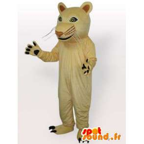 Beige panther mascot. Beautiful cat for festive evenings - MASFR00683 - Lion mascots