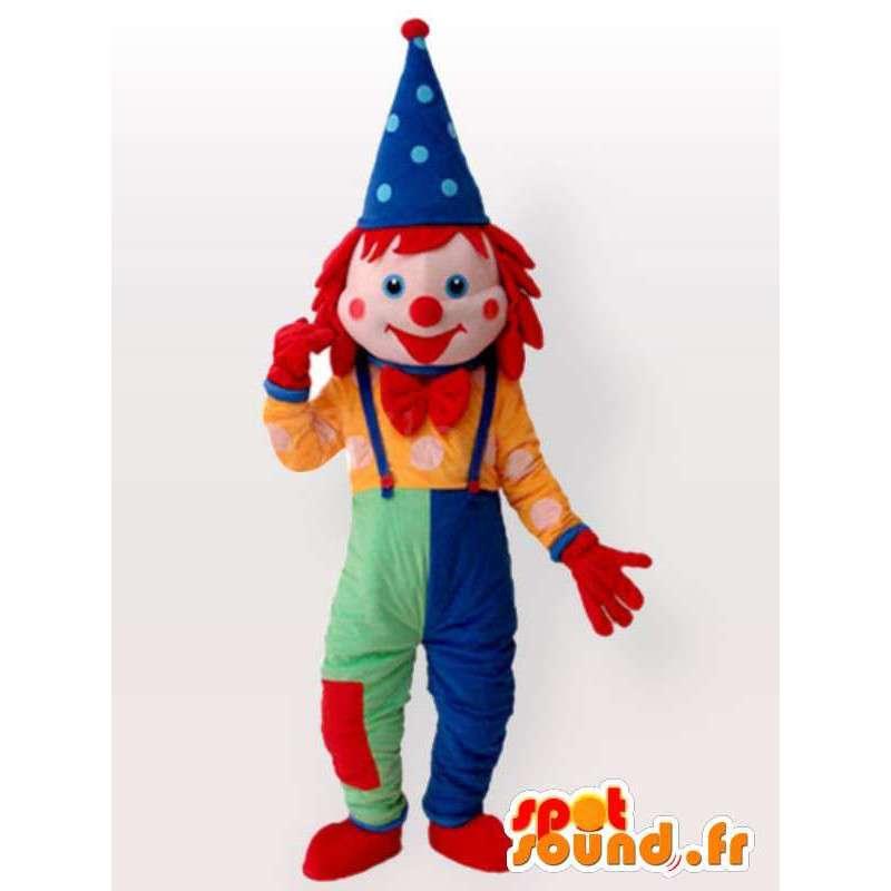 Clown mascotte Lutin - costume multicolor con accessori - MASFR00196 - Circo mascotte