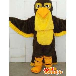 Eagle Mascot Keltainen - Express merenkulku ja siisti - Costume