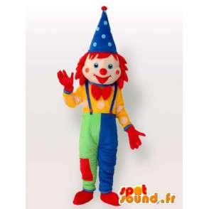 Krasnoludek maskotka Clown - wielobarwny strój z akcesoriami - MASFR00196 - maskotki Circus