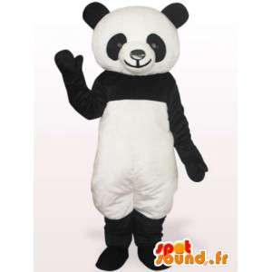 Mascotte de panda noir et blanc - Envoi rapide
