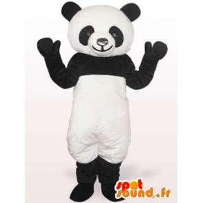 μαύρο και άσπρο panda μασκότ - Γρήγορα στέλνοντας - MASFR001045 - pandas μασκότ