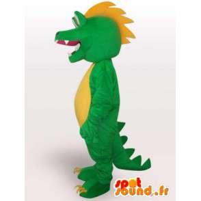 Maskotti aligator / krokotiili lohikäärme tyyli - Green Pet - MASFR00563 - maskotti krokotiilejä