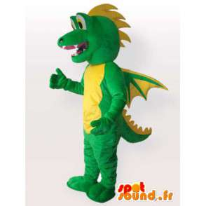 Mascot aligator / crocodile style dragon - Green Animal - MASFR00563 - Mascot of crocodiles