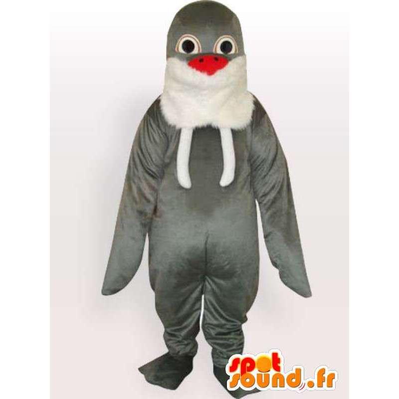 Grey Seal classica mascotte - marina orologio peluche - MASFR00285 - Sigillo di mascotte