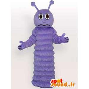 Maskotti violetti perhonen toukka - hyönteinen puku - Ilta