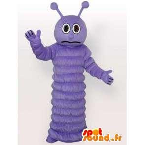Μασκότ μοβ κάμπια πεταλούδα - φορεσιά εντόμων - Βραδιά - MASFR00297 - μασκότ πεταλούδα