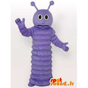 Mascot purple butterfly larva - Insect Costume - Evening - MASFR00297 - Mascots Butterfly