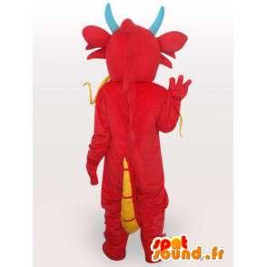 Maskotka Asian czerwony smok - Chiński smok kostium - MASFR00556 - smok Mascot