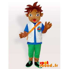 Mascot official sponsor of football. Boy with accessories - MASFR00638 - Mascots boys and girls