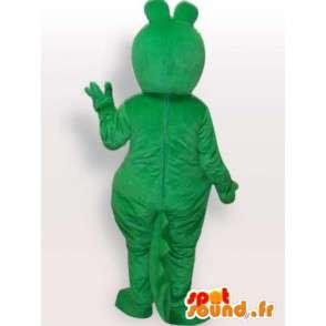 マスコットの古典的な緑のカエル - 病気のカエル - MASFR00287 - カエルのマスコット