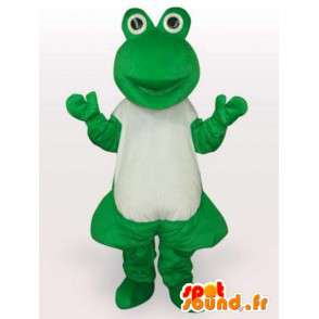 Mascot clássico do sapo verde - As rãs doentes - MASFR00287 - sapo Mascot