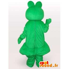 Μασκότ κλασικό πράσινο βάτραχο - Οι άρρωστοι βατράχια - MASFR00287 - βάτραχος μασκότ