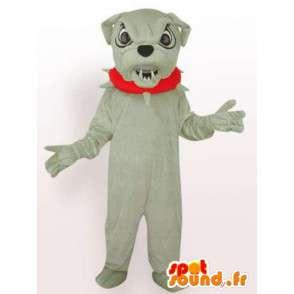 Dog mascotte boulldog - gekostumeerd bal hond met toebehoren - MASFR00246 - Dog Mascottes