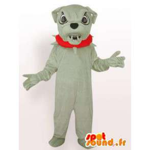 Koira maskotti boulldog - pukujuhlat koiran varusteineen - MASFR00246 - koira Maskotteja