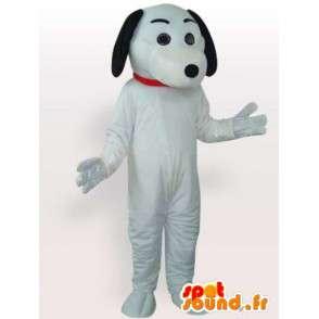 Dog mascot black and white gloves and white shoes - MASFR00693 - Dog mascots