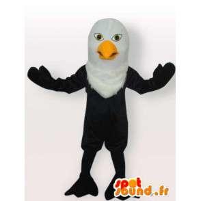 Mascotte aigle noir modèle Léger avec portance minimaliste - MASFR00650 - Mascotte d'oiseaux