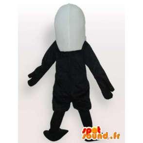 Nero aquila mascotte modello leggero con ascensore minimo - MASFR00650 - Mascotte degli uccelli