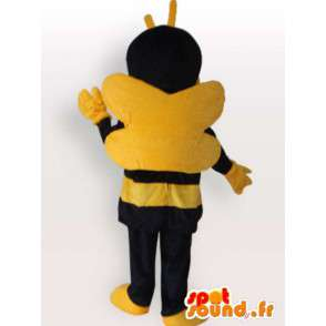 Mascot bee yellow and brown with antenna - Beekeeping - MASFR00792 - Mascots bee