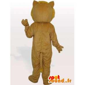 Mascotte lion beige avec accessoires - Costume de la savane - MASFR00745 - Mascottes Lion