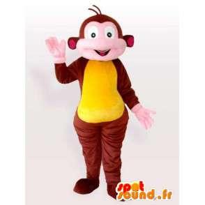 καφέ και κίτρινο κοστούμι πιθήκου. ζωολογικό κήπο των ζώων για εκδηλώσεις - MASFR00636 - Πίθηκος Μασκότ
