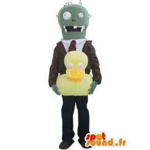 Ο άνθρωπος κοστούμι μασκότ ρομπότ και γραβάτα - MASFR00418 - Ο άνθρωπος Μασκότ