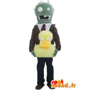 Man with robot mascot suit and tie - MASFR00418 - Human mascots