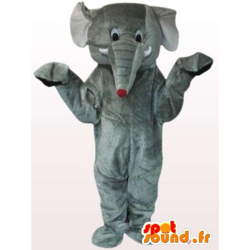 Mascot szary słonia myszy ogonem - kostium szary słonia - MASFR00885 - Mouse maskotki