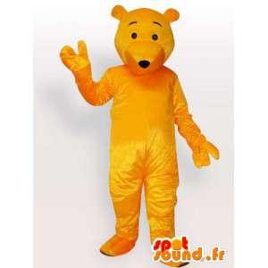Maskot žlutý medvěd - medvěd kostým k dispozici brzy