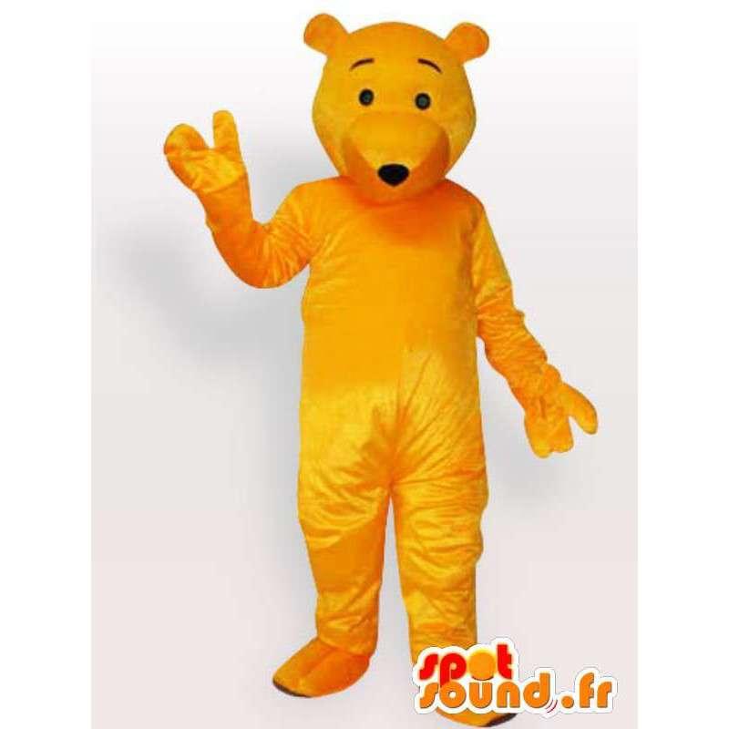 Maskot žlutý medvěd - medvěd kostým k dispozici brzy - MASFR00898 - Bear Mascot