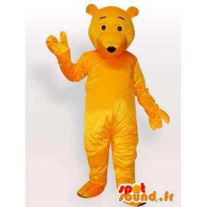 Mascotte d'ours jaune - Déguisement d'ours disponible rapidement - MASFR00898 - Mascotte d'ours