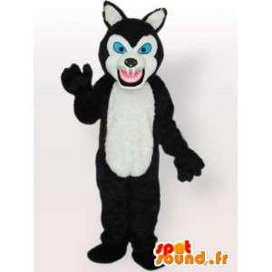 Mascotte medvěd s velkými zuby - medvěd kostým