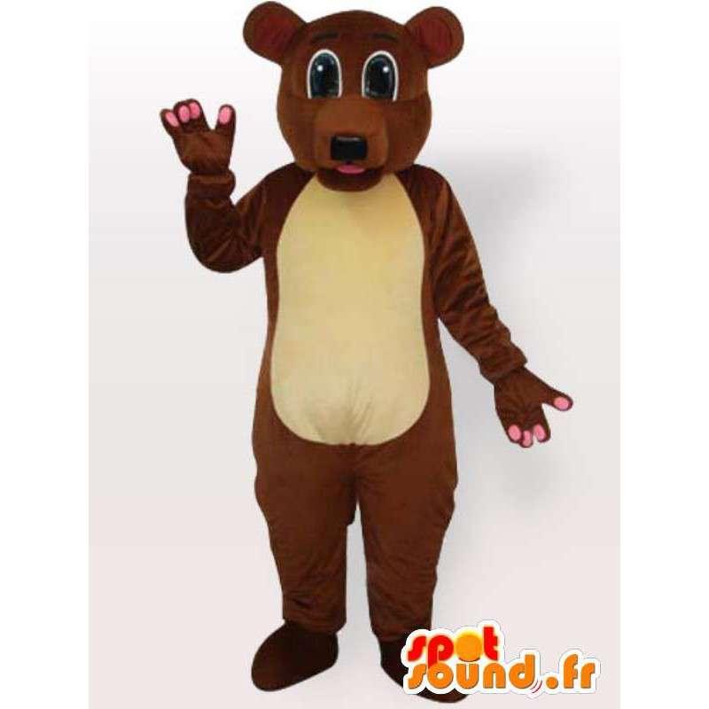 Costume brun bære alle størrelser - Disguise brunbjørn - MASFR00894 - bjørn Mascot