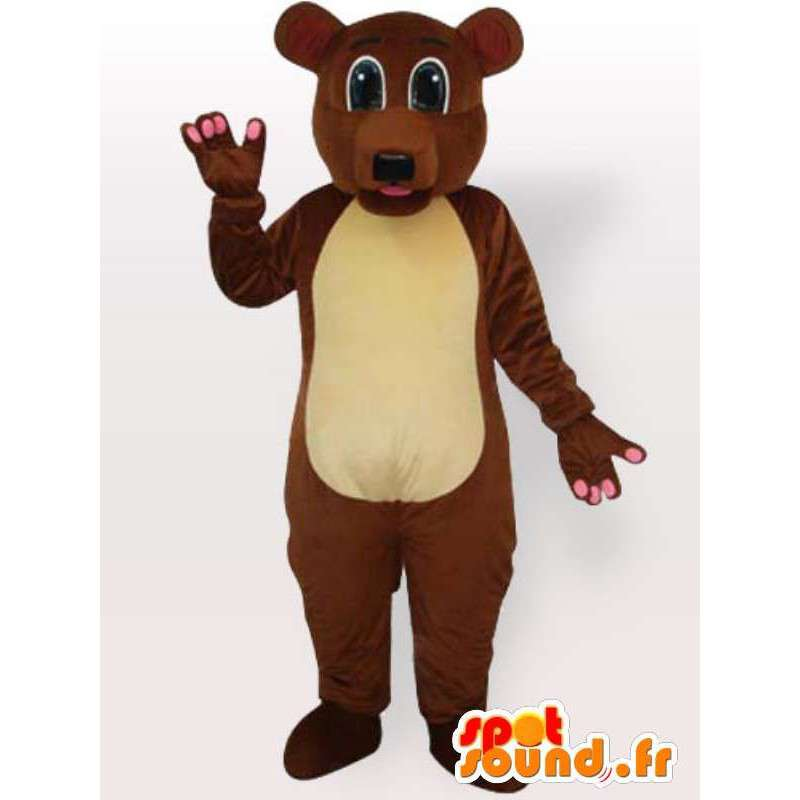Costume ours brun toutes tailles - Déguisement ours brun - MASFR00894 - Mascotte d'ours