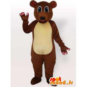 Braunbär Anzug alle Größen - Braunbär Kostüm - MASFR00894 - Bär Maskottchen