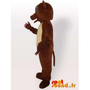 Kostium brunatny wszystkie rozmiary - Przebierz brunatny - MASFR00894 - Maskotka miś