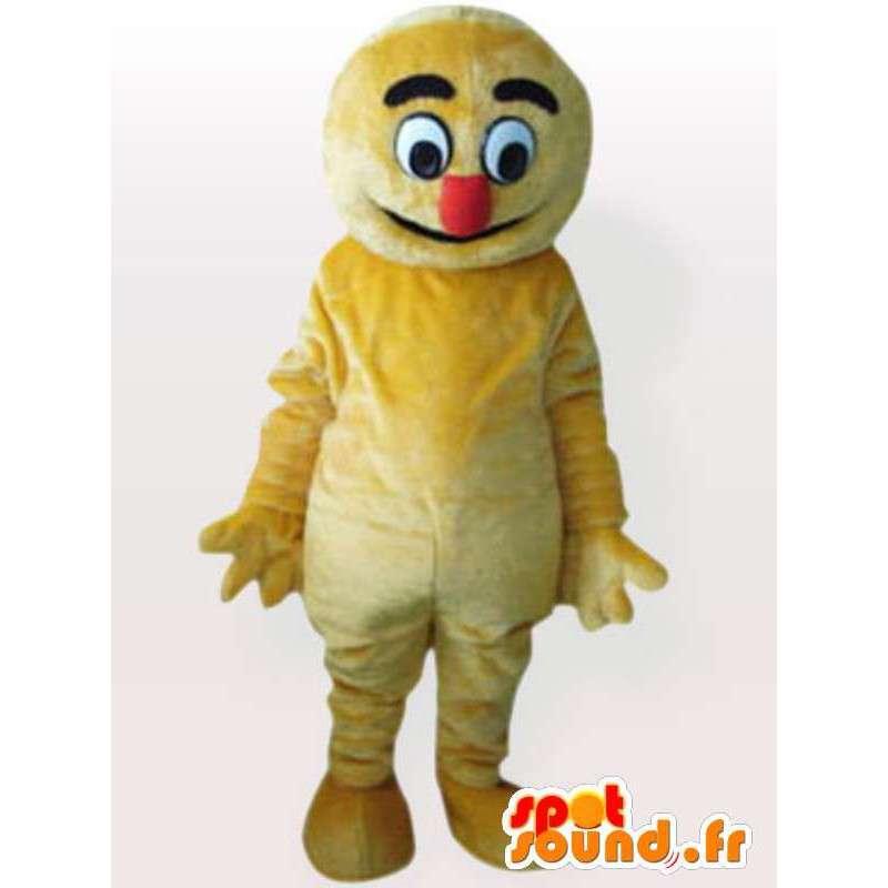 Traje del polluelo de peluche - traje amarillo - MASFR00895 - Mascota de gallinas pollo gallo