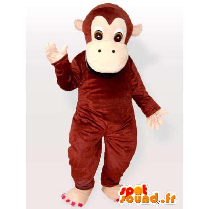 Grappige aap mascotte - aapkostuum alle soorten en maten - MASFR00897 - Monkey Mascottes