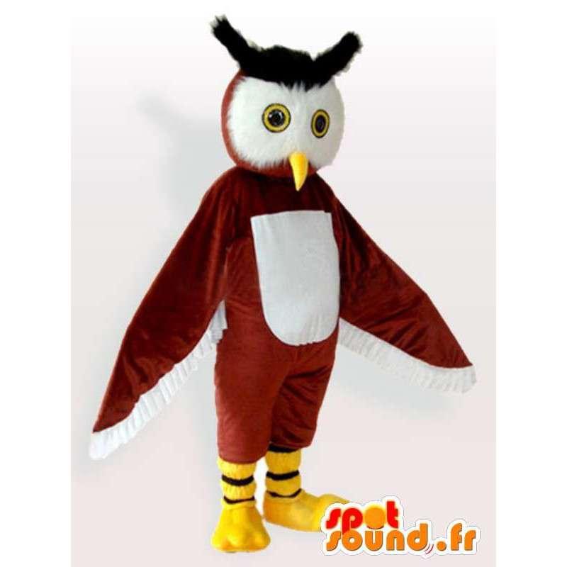 フクロウコスチューム大公 - フクロウの衣装すべてのサイズ - MASFR00907 - マスコットの鳥
