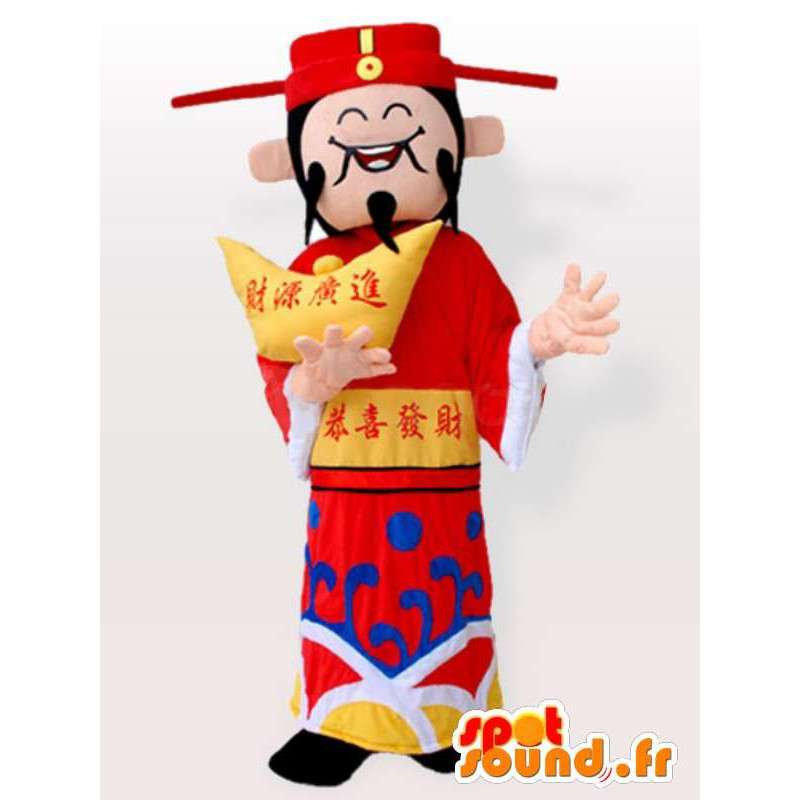 Japoński strój z akcesoriami - kostium wszystkich rozmiarów - MASFR00910 - Mężczyzna Maskotki