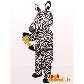 Zebra Costume - Animal Kostymer alle størrelser - MASFR00911 - jungeldyr