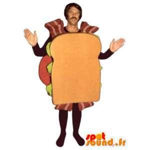 Mascot hombre sandwich con tocino - Disfraz todos los tamaños