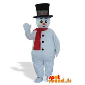 Snowman Mascot - kostyme med tilbehør