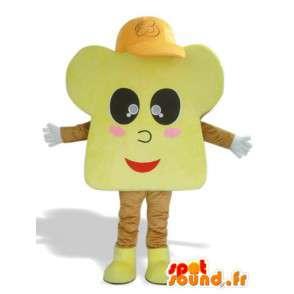 Brioche mascotte met hoed - kostuums en accessoires - MASFR00918 - mascottes gebak
