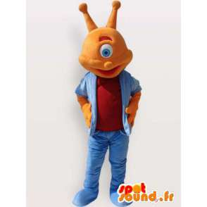 Blinde alien kostuum - alien kostuum - MASFR00913 - uitgestorven dieren Mascottes