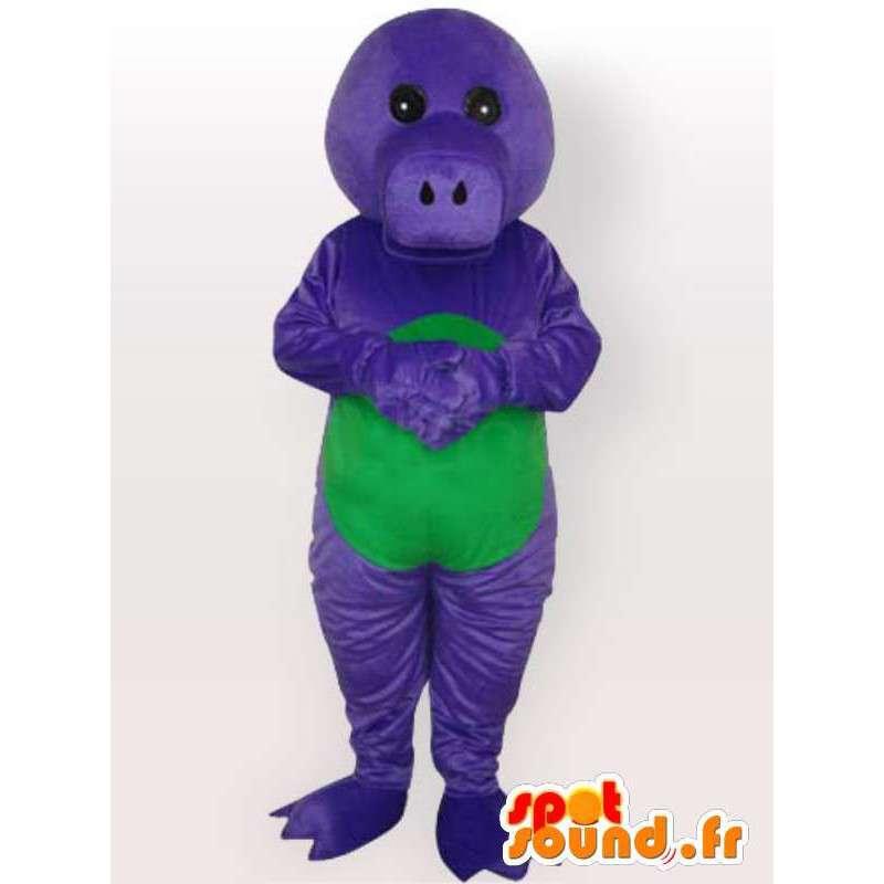 Kostüm-Spaß Alligator Alligator-Kostüm blaue Farbe - MASFR001082 - Maskottchen Krokodil