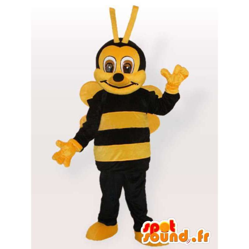 Bee Costume Plysj - Disguise alle størrelser - MASFR001094 - Bee Mascot