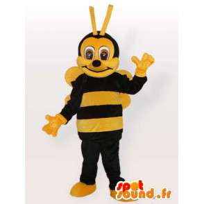 Bee κοστούμι βελούδου - μεταμφίεση όλα τα μεγέθη - MASFR001094 - Bee μασκότ