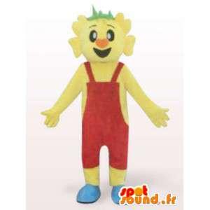 Costume d'homme en salopette rouge - Déguisement personnage